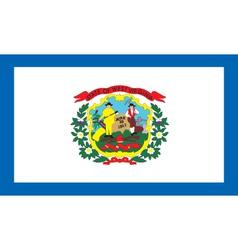 West Virginia flag vector
