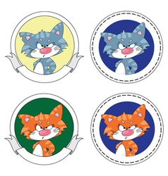 angry cat banner vector image vector image