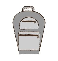 backpack traveler vacation color sketch vector image vector image