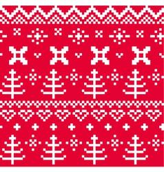Christmas norwegian seamless knitting pattern vector