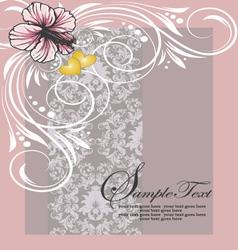 damask shower invitation card vector image