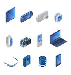 digital technology gadgets set vector image
