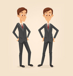 office worker man character set vector image