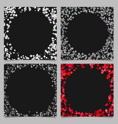 round border background design set with dots vector image vector image