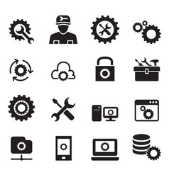 setting configuration set up repair tuning icon vector image
