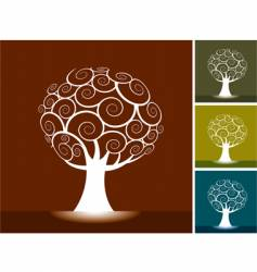 trees backgrounds vector image vector image