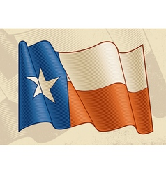 Vintage Texas Flag vector image