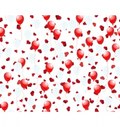 balloons on hearts vector image vector image