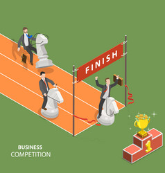 Business competition flat isometric low poly vector