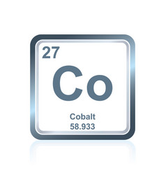chemical element cobalt from the periodic table vector image vector image