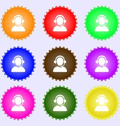 Customer support icon sign Big set of colorful vector image