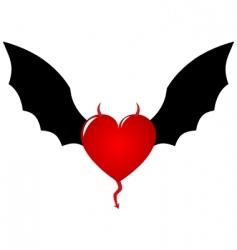 demon heart vector image vector image
