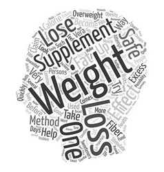 Miracle Weight Loss Supplements Your Partner In vector image vector image
