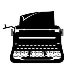 typewriter old retro vintage icon stock vector image vector image