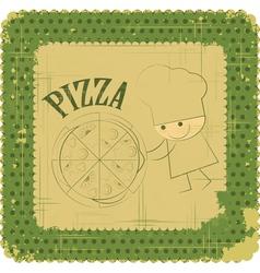 Vintage Pizza Menu Card vector image