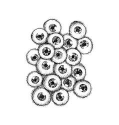 dotwork human eyeballs vector image