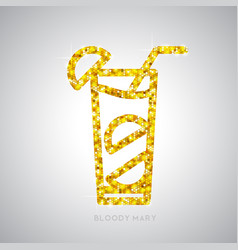 golden cocktail flat icon bloody mary vector image