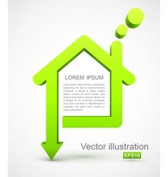 Green house icon vector image