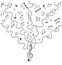 Musical background music for your design vector image