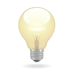 Bulb icon vector image vector image