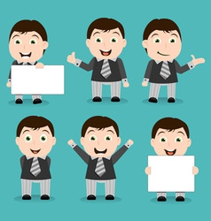 businessman characters vector image