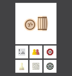 flat icon entertainment set of arrow labyrinth vector image vector image