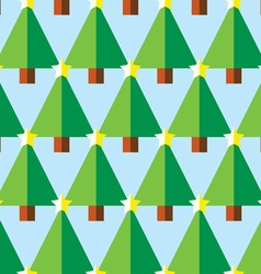 Geometric Christmas trees with star pattern vector image vector image