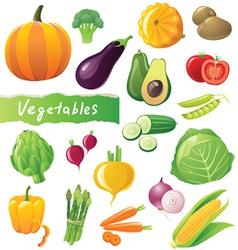 Great vegetables set vector