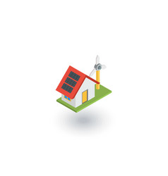 green house concept ecological equipment - solar vector image