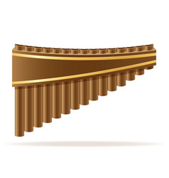 pan flute wind musical instruments stock vector image vector image