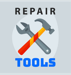 Repair tools hammer wrench icon creative graphic vector