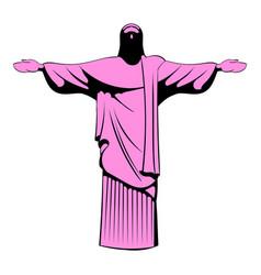 rio de janeiro christ icon cartoon vector image vector image
