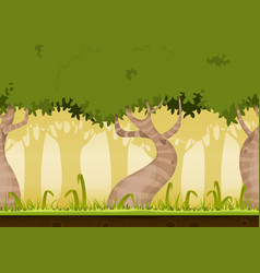 seamless forest landscape vector image