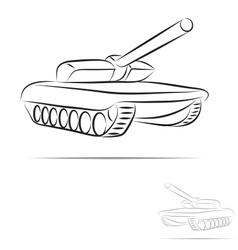 stylized tank vector image