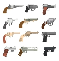 Weapons handguns collection vector image vector image