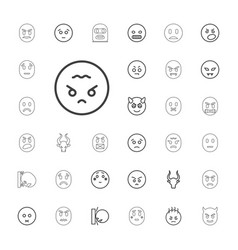 33 angry icons vector