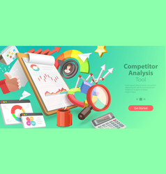 3d conceptual competitor vector image