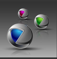 3d logo eps 10 vector image