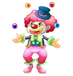 A clown with her balls vector image