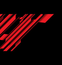 Abstract red black cyber circuit with blank vector