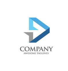 arrow abstract logo vector image