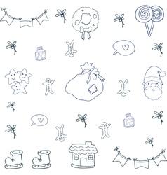 art of christmas set doodle vector image