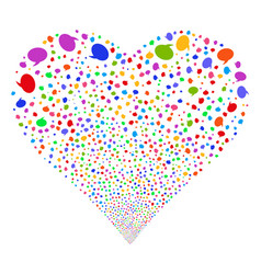 Balloon fireworks heart vector