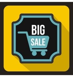 Big sale sticker icon flat style vector image