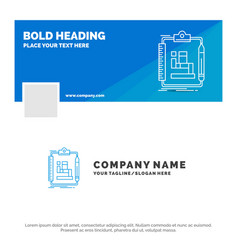 Blue business logo template for algorithm process vector