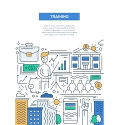 Business training - line design brochure poster vector
