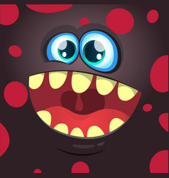 Cartoon funny monster black face vector