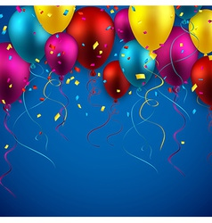 Celebrate background with balloons vector