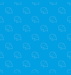 Chat pattern seamless blue vector
