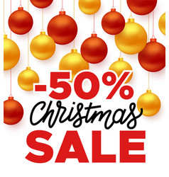 christmas sale promotion banner vector image